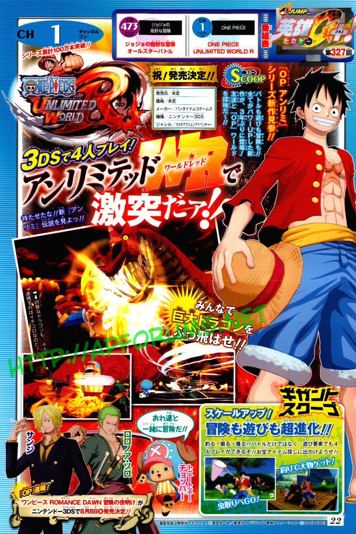 One piece unlimited world red un nuevo juego para for One piece juego