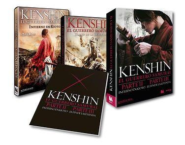 pack kenshin: 2 y 3 pelicula