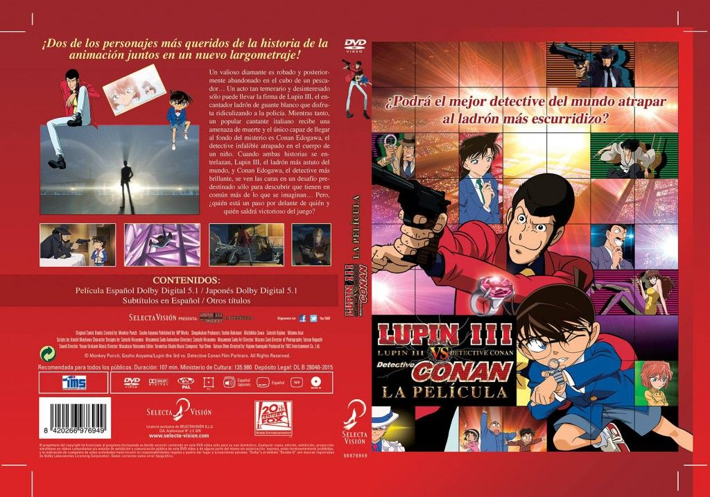 DVD LUPIN VS DETECTIVE CONAN