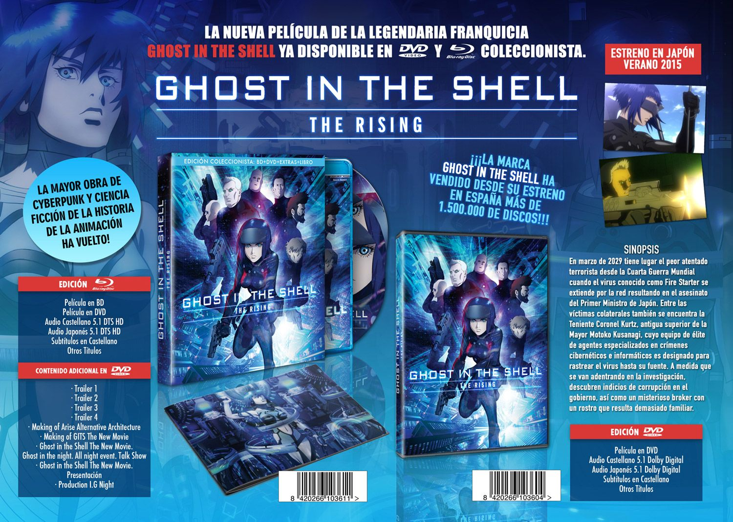 Ghost in the shell the rising promo marzo
