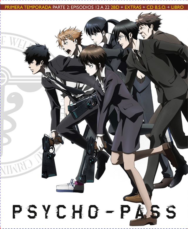 PSYCHO PASS Temporada 1 parte 2 Blu-ray