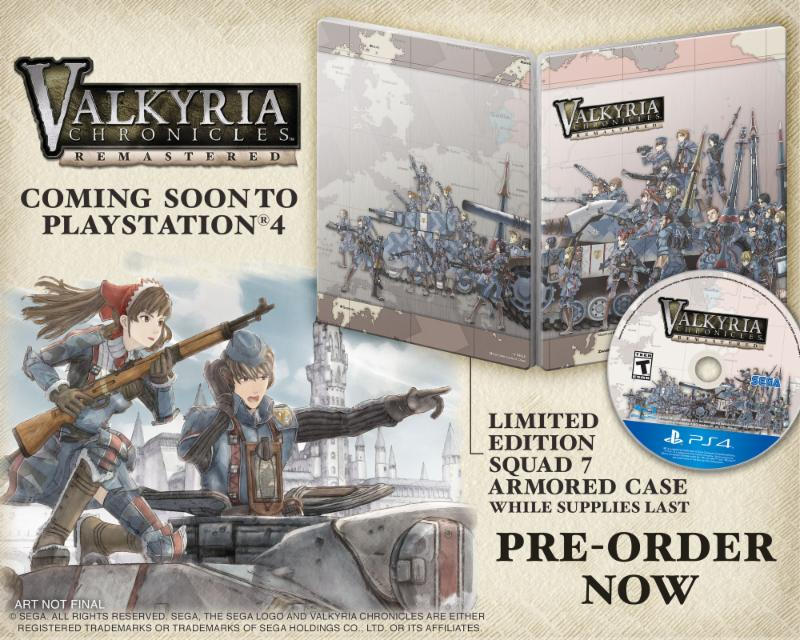 Valkyria Chronicles Remastered collector edition