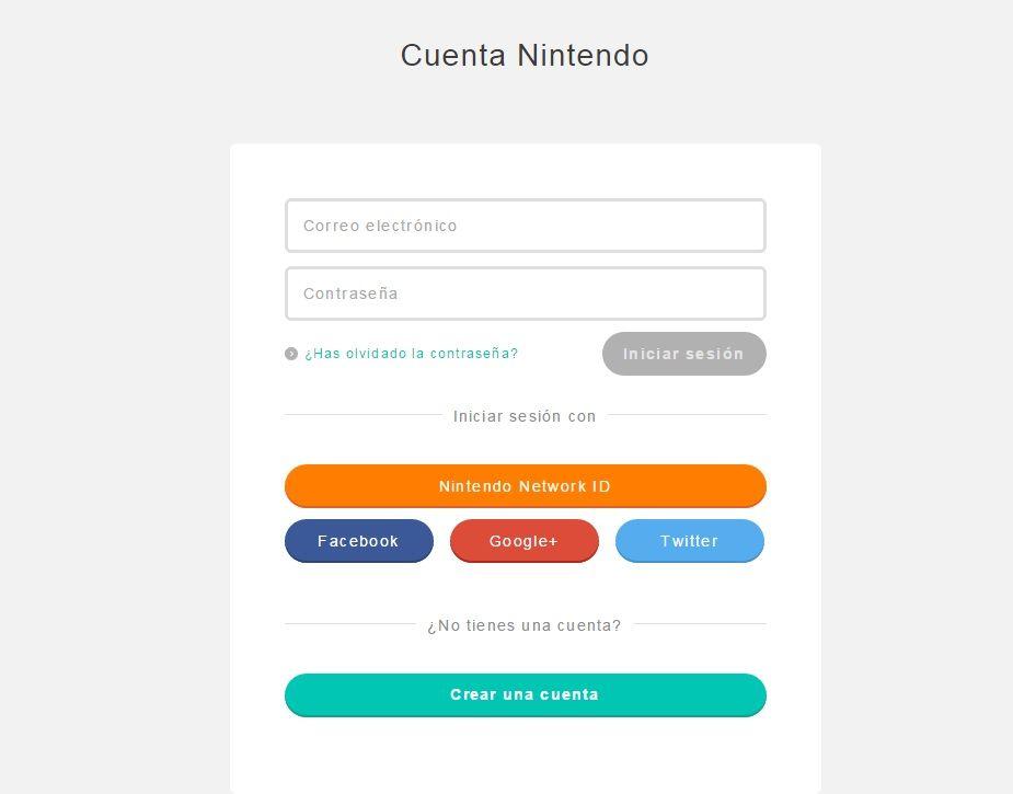 Cuenta Nintendo cap web