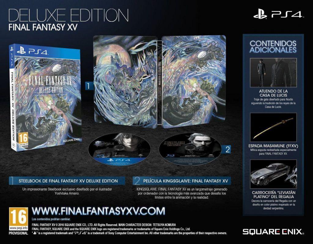 Final Fantasy XV ed limitada