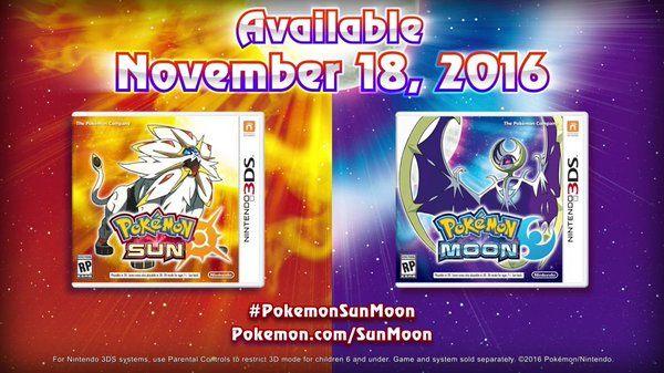 Pokemon sun moon lanzamiento