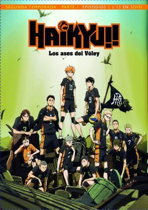 Haikyu!! Los Ases del Vóley Temporada 2 Parte 1 DVD