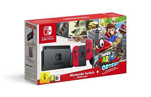 Consola Nintendo Switch con Super Mario Odyssey desde 349€