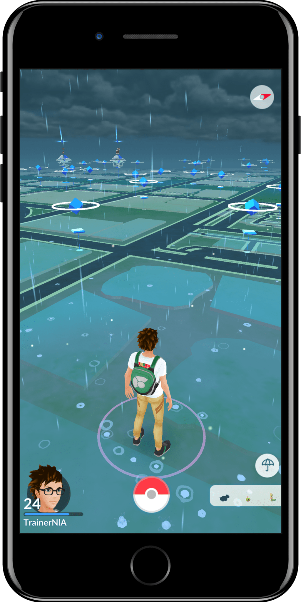 Clima lluvia pokemon go