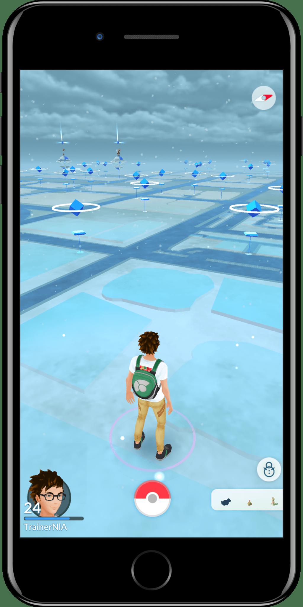 Clima nieve pokemon go