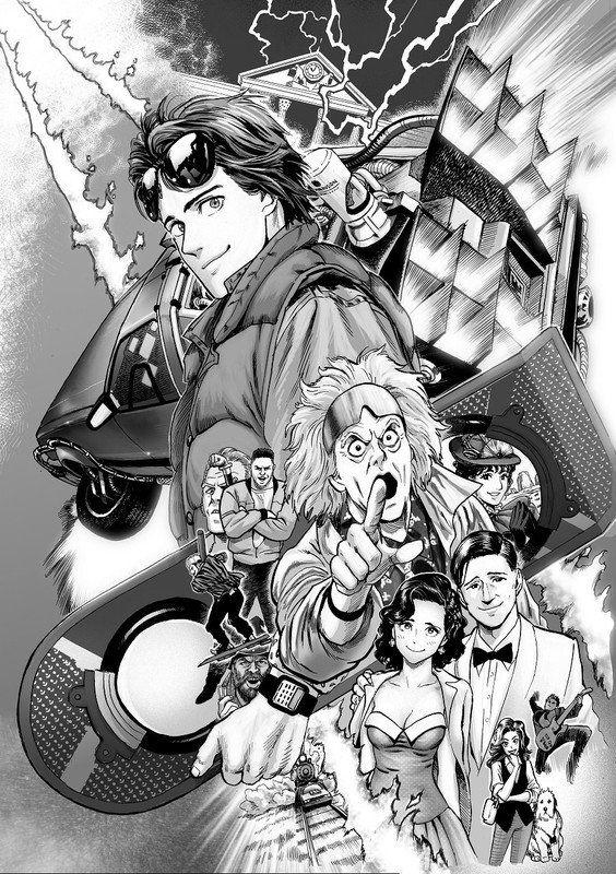 Yuusuke Murata (One Punch-Man) publicará un manga basado en la película Regreso al futuro Regreso-al-futuro-manga