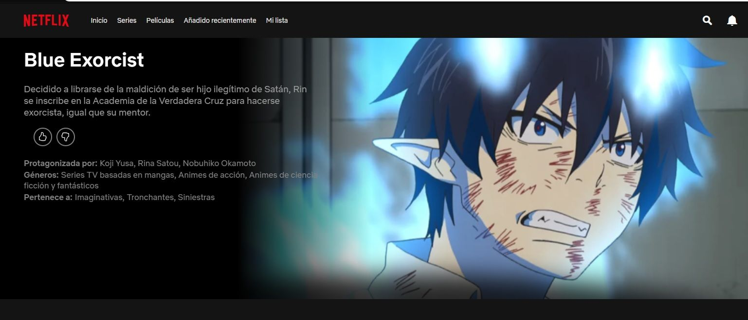 Blue Exorcist Netflix