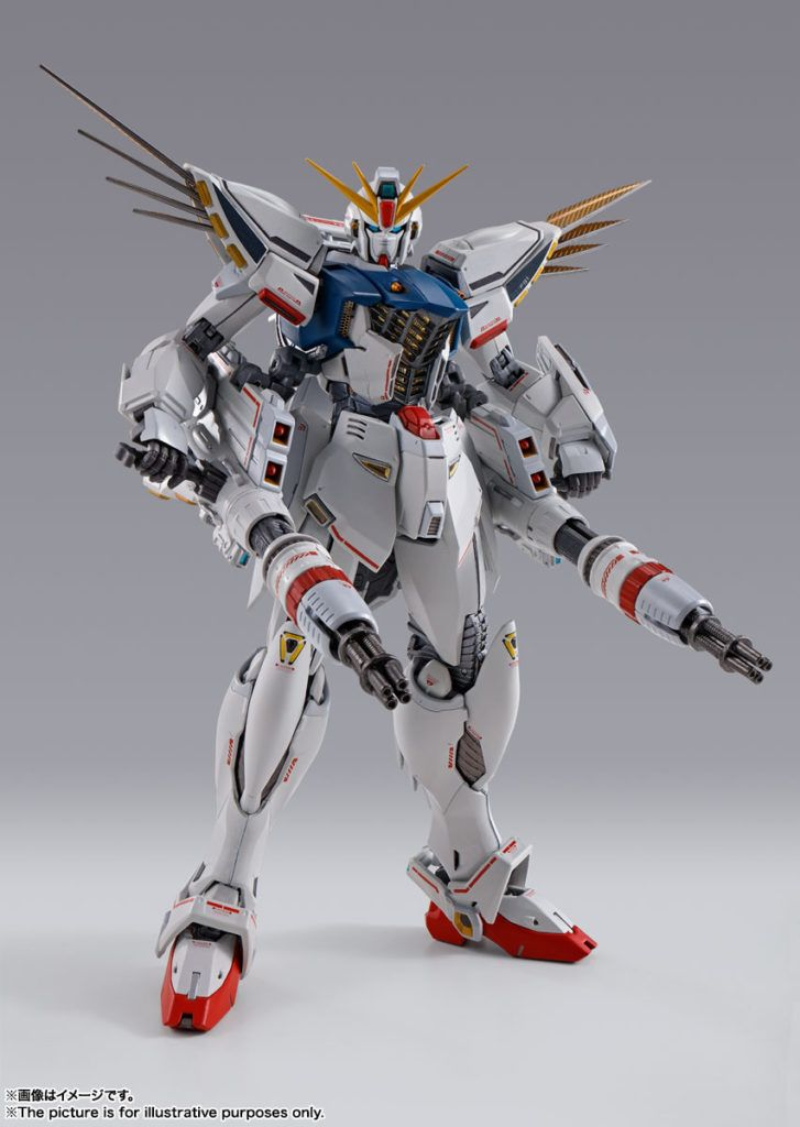 GUNDAM FORMULA 91 CHRONICLE WHITE VER. FIGURA 17 CM MOBILE SUIT GUNDAM F91 METAL BUILD