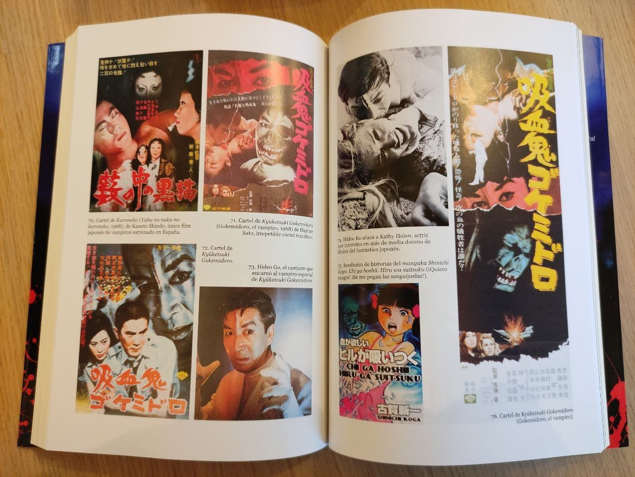 Vampiros en Japón. Ilustraciones a todo color