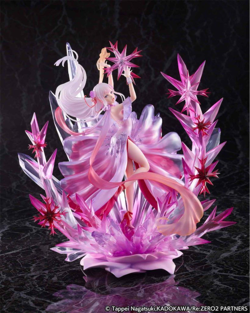 FREEZING EMILIA CRYSTAL DRESS FIG 24 CM RE: ZERO STARTING LIFE IN ANOTHER WORLD