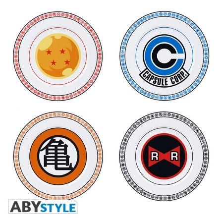 DRAGON BALL Z Set of 4 Plates Emblems