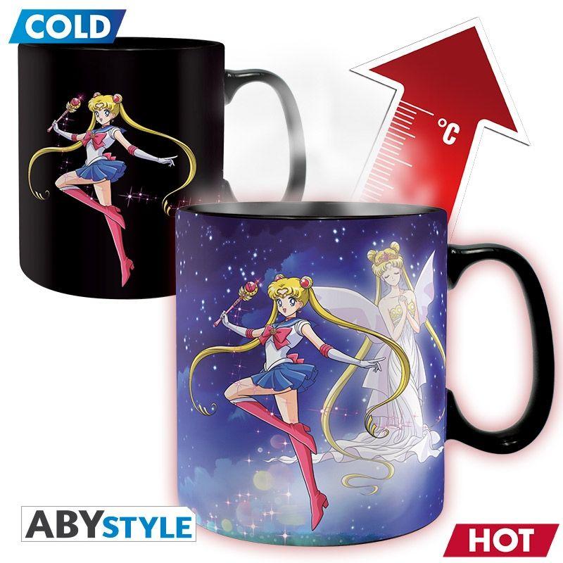 SAILOR MOON Heat change mug Sailor & Chibi King size